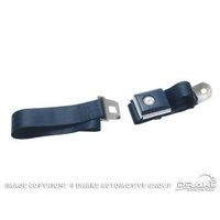 1964 - 1973 Mustang Push Button Seat Belt (Dark Blue)