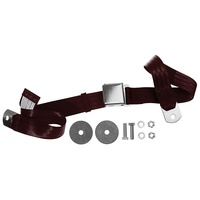 1964 - 1973 Mustang Aftermarket Seat Belt (Dark Red) Front or Rear, Left or Right