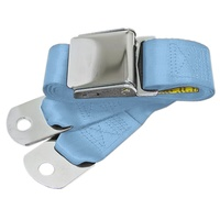 1964 - 1973 Mustang Aftermarket Seat Belt (Light Blue) Front or Rear, Left or Right