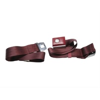 1964 - 1973 Mustang Push Button Seat Belt (Maroon)