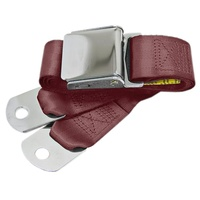 1964 - 1973 Mustang Aftermarket Seat Belt (Maroon) Front or Rear, Left or Right
