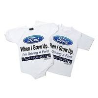 "Kids ""Grow Up Ford"" Onesie Size 12 Months"